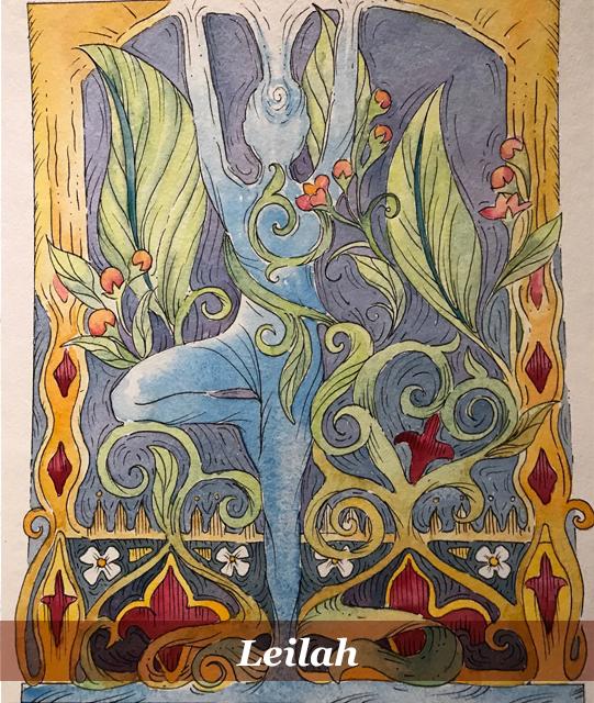 she book artist - sharon belknap - leilah